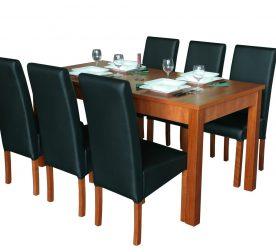 Berta calvados Florida 8 Fekete + Linda asztal